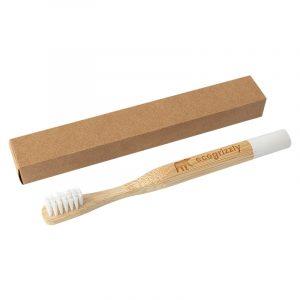 Бамбуковая зубная щетка Ecogrizzly для детей (белая)