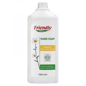 Органическое мыло для рук FRIENDLY ORGANIC с экстрактом ромашки, 1000 мл