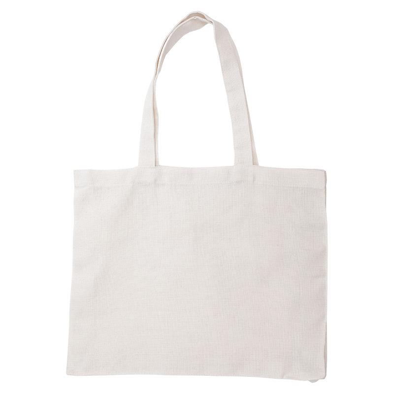 Еко-сумка з боковим розширенням та дном, 100% бавовна