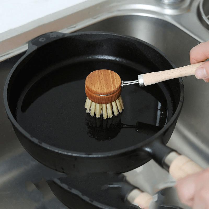 Екологічна кухонна щітка із сизалю з довгою ручкою, 24 см