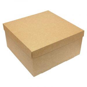 Коричнева картонна подарункова коробочка Craft, 20 х 20 х 10 см