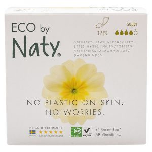 Гигиенические прокладки Eco by Naty extra normal plus с крылышками, 4 капли, 12 шт