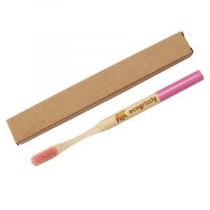 Зубна щітка Ecogrizzly бамбукова (рожева)