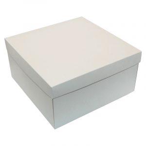 Біла картонна подарункова коробочка White, 20 х 20 х 10 см