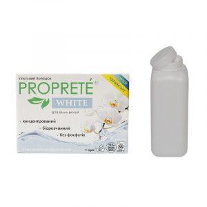 Пральний безфосфатний концентрований порошок Proprete White на вагу